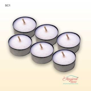 Set 6 lumanari parfumate format pastila Christmas time SC1