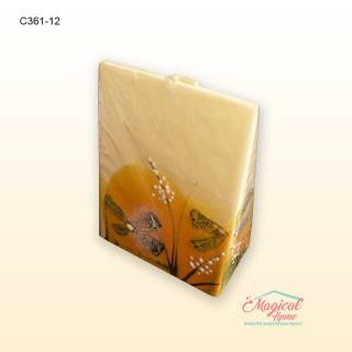 Lumânare pictată manual prismă 12cm C361
