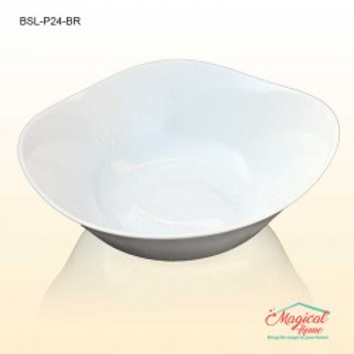 Bol salata opal 24x24cm PARMA uni alb Bormioli Rocco