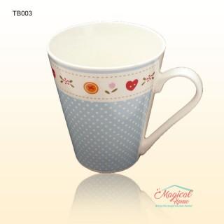 Cană ceramică decor rustic TB003 BL