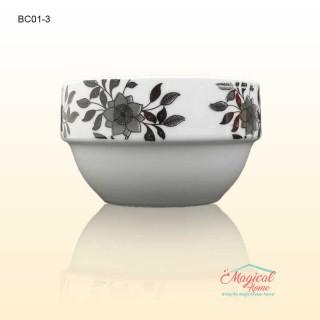 Bol ceramic BC013 decor floral monocrom