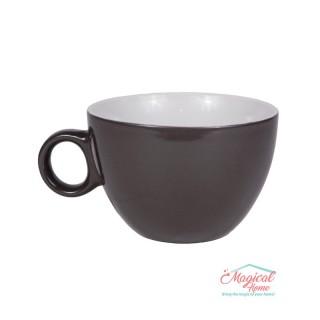 Bol supă, ceramic cu toartă decor bicolor BST-01VIOLET