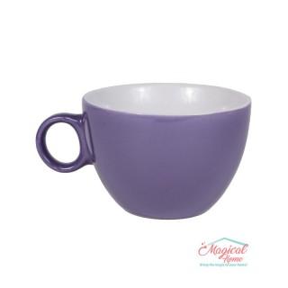 Bol supă, ceramic cu toartă decor bicolor BST-01MOV
