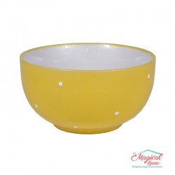 Bol supă ceramic BB-223 GALBEN decor uni