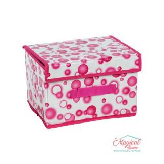 Cutii depozitare pliabile 25x20x16.5cm decor buline CD11-01