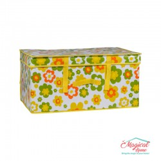 Cutie depozitare CDPC1-05 decor floral, galben, 60x40x30cm