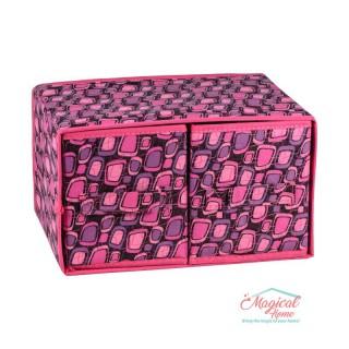 Set cutii depozitare CD6-01 roz decor abstract