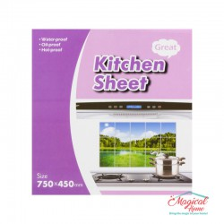 Folie protecție perete bucătărie 75x45cm 00650