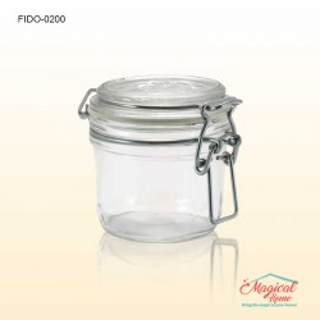 Borcan sticlă ermetic 200ml Fido Brmioli Rocco
