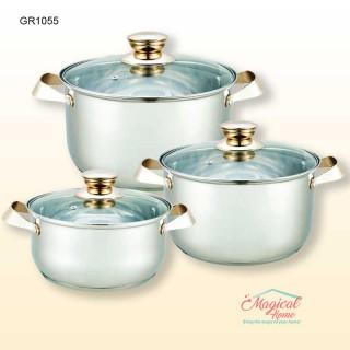 Set oale inox cu capace sticla 6 piese GRUNBERG GR1055