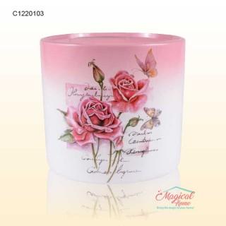 Mască ghiveci flori 13,5cm ceramică Trandafiri