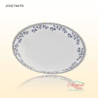 Farfurie supa opal 744 decor floral - farfurie adanca