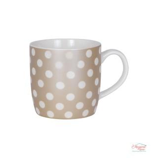 Cană ceramică CCF3-01 decor buline, sidefată