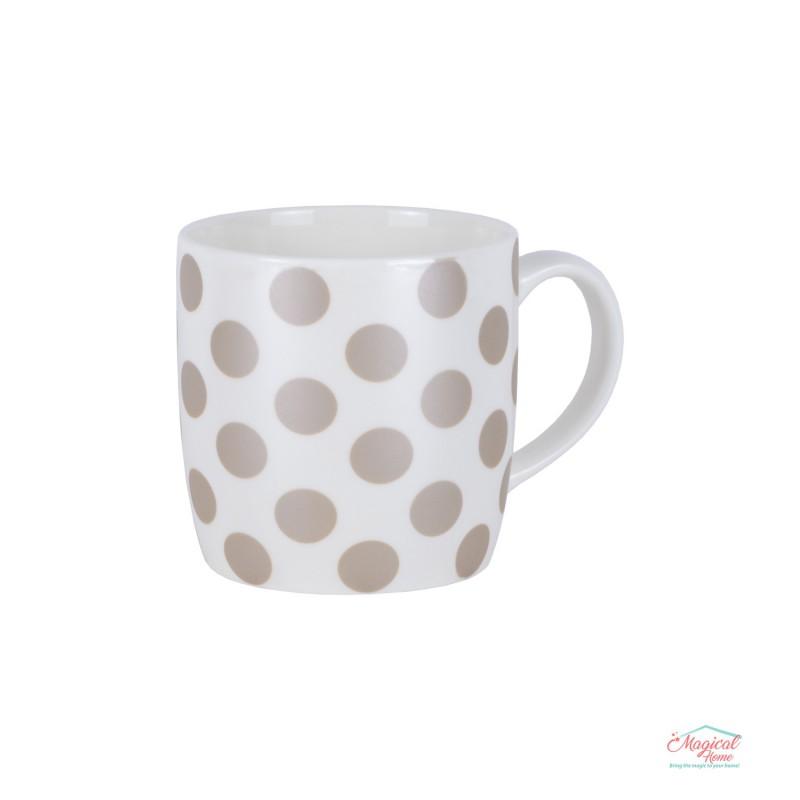 Cană ceramică CCF3-02 decor buline, sidefata