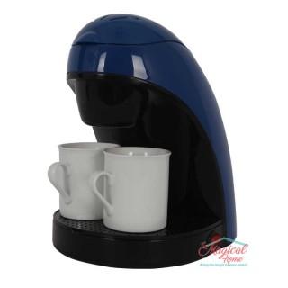 Filtru de cafea 450 W, 2 Cani, Albastru/Negru, Victronic VC609