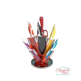 Set cuțite în suport , 8 piese, Grunberg GR2510