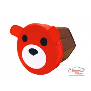 Cutie depozitare tip taburet hexagonala, model cap ursuleţ OR045B