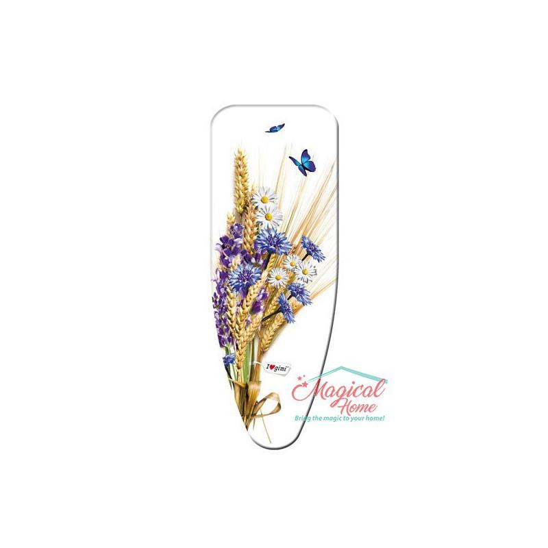 """Husă pentru masa de călcat """"L"""" 136x58 cm decor Flori de câmp"""