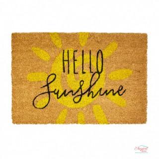 Covoraș intrare, cocos 60x40 cm Hello Sunshine
