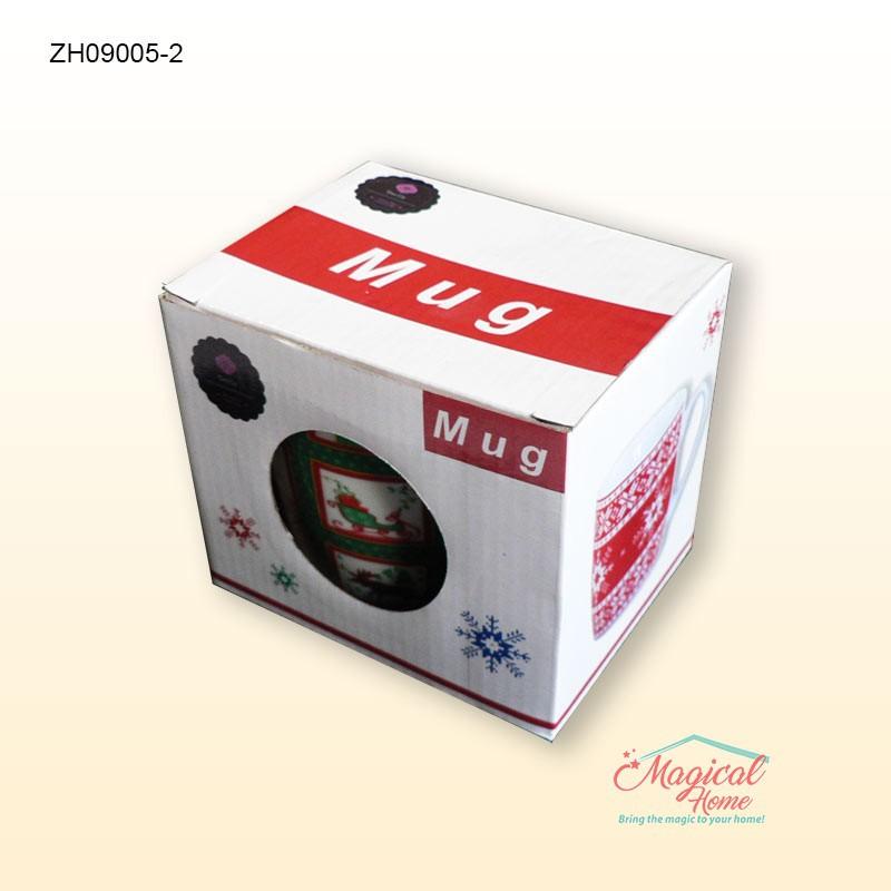 Cana ceramica ZH09005-2 decor Craciun Mod ambalare