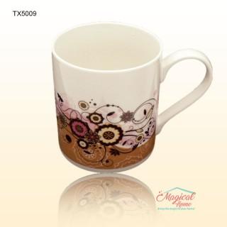 Cană ceramică decor floral TX5009