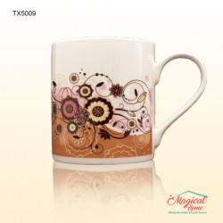Cana ceramica decor floral TX5009