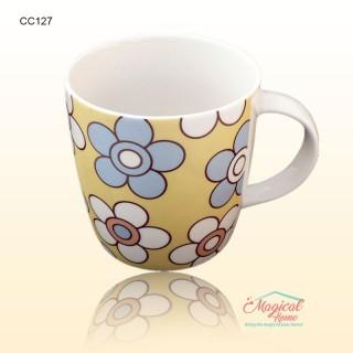 Cana ceramica decor floral CC127