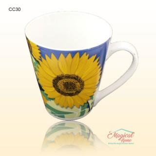 Cană ceramică decor floral CC30