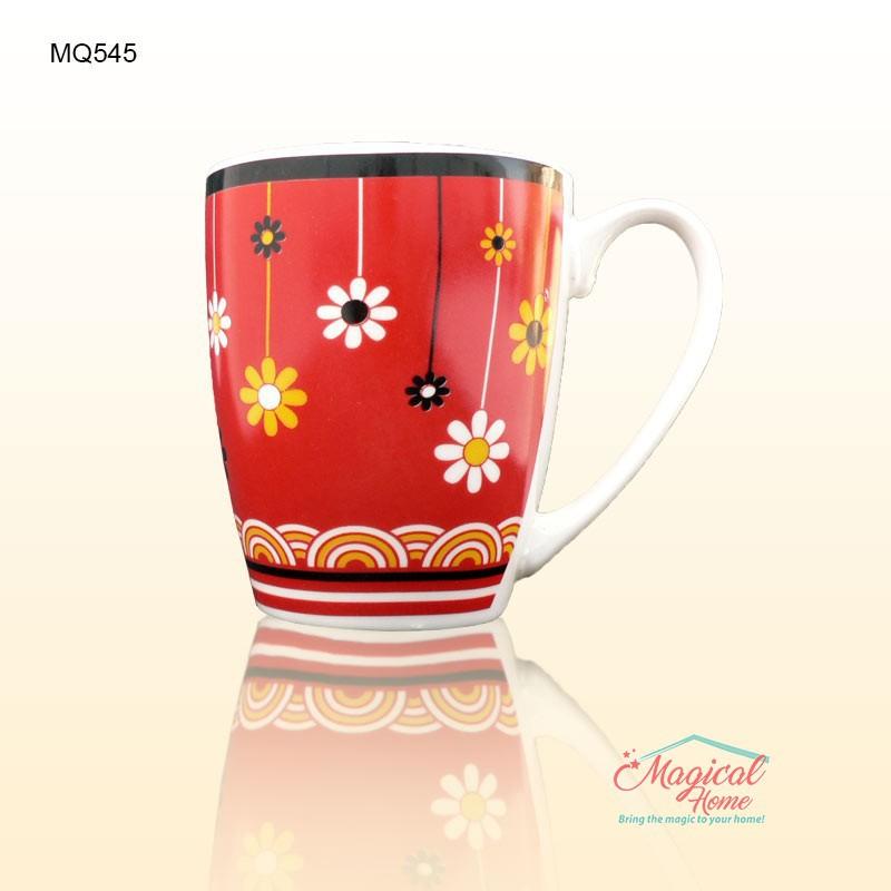 Cana ceramica decor floral MQ545